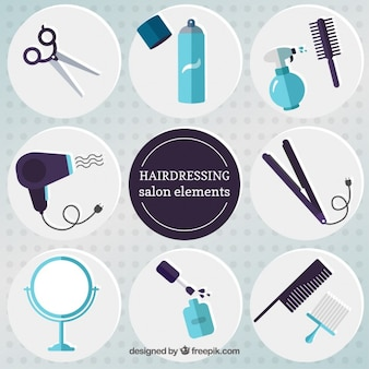 Flat hairdressing salon elements