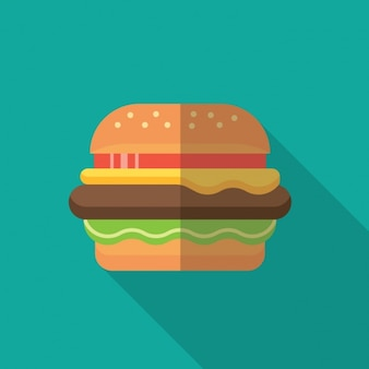 Flat hamburguer design