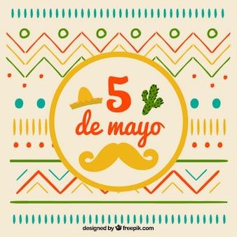 Flat hand drawn cinco de mayo design
