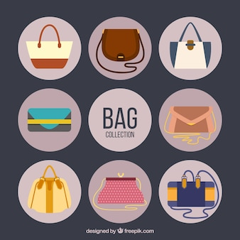 Flat handbag collection
