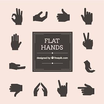 Flat hands pack