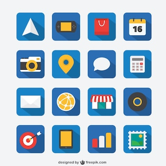 Flat icon set for Web and Mobile App