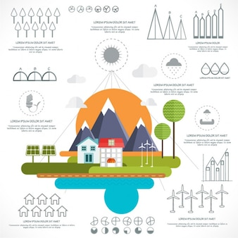 Flat infographic about green energies