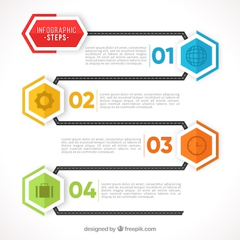 Flat infographic template with modern style