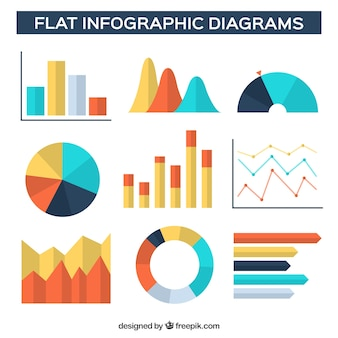 Flat infographic with warm tones