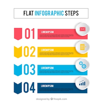 Flat infogrpahic with modern style