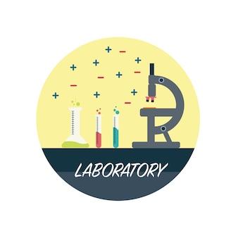 Flat laboratory vector