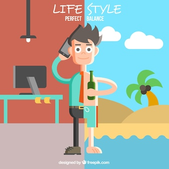Flat lifestyle illustration
