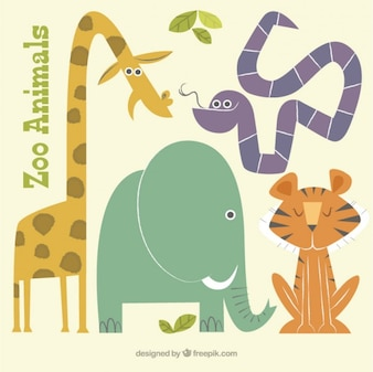 Flat lovely  wild animals