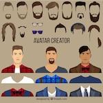 Flat Male Avatar Creator