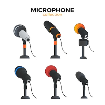 Flat microphone collection