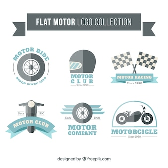 Flat motor logo collection