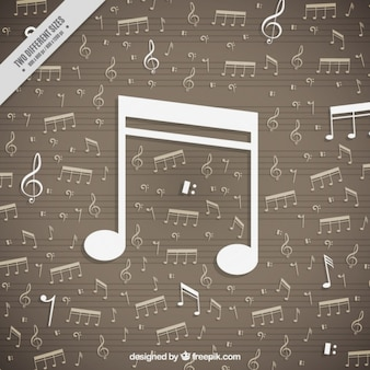 Flat musical notes background