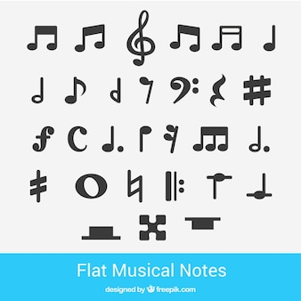 Flat musical notes