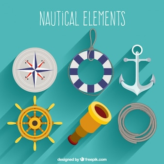 Flat nautical elements pack