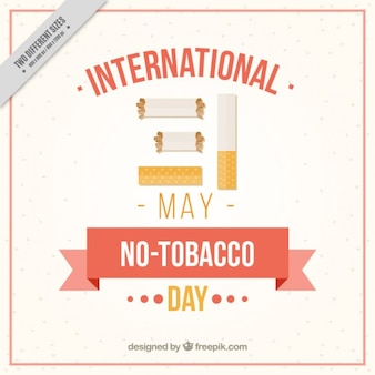 Flat no tabacco day background