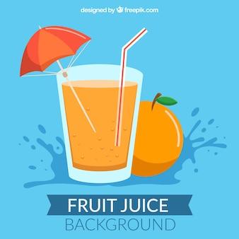 Flat orange juice background