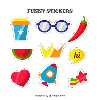 Flat pack of fun stickers