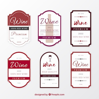 Flat pack of great wine labels