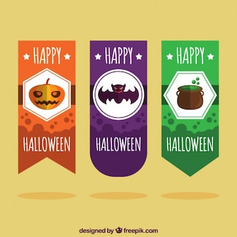 Flat pack of halloween labels