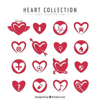 Flat pack of hearts