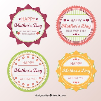 Flat pack of mother's day labels