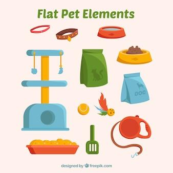Flat pet elements pack
