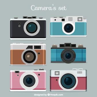 Flat Photo Camera Set