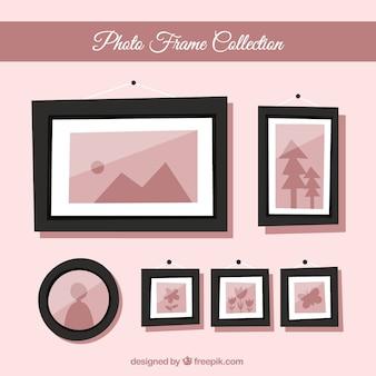 Flat photo frame set