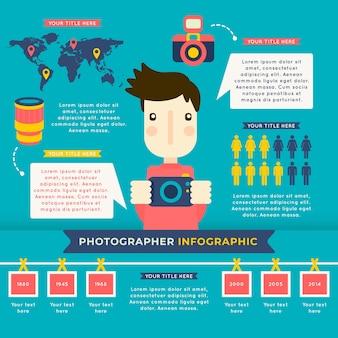 Flat photographer infographic