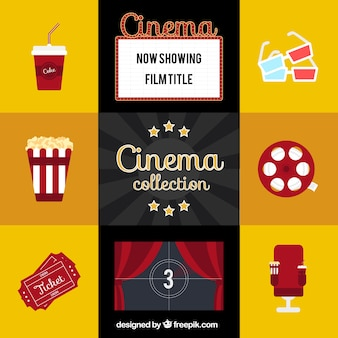 Flat red movie elements