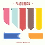 Flat ribbons with different colors