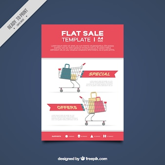 ショッピングカートフラット販売テンプレート