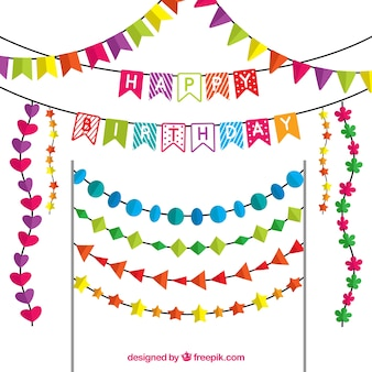 Flat selection of birthday garlands