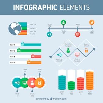 色付きの情報要素のフラットな選択