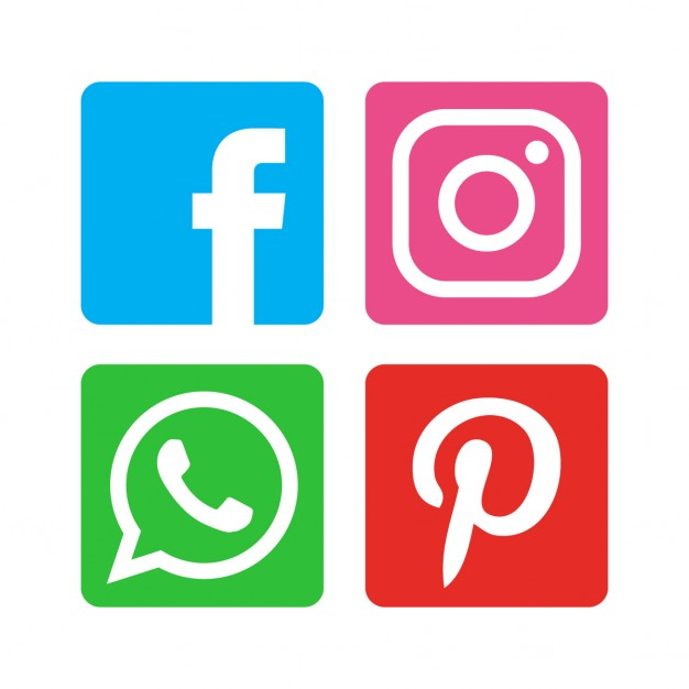 Flat social media icon pack