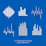 Flat sound wave set