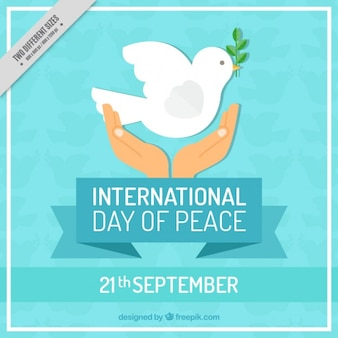 Flat style background for the international day of peace