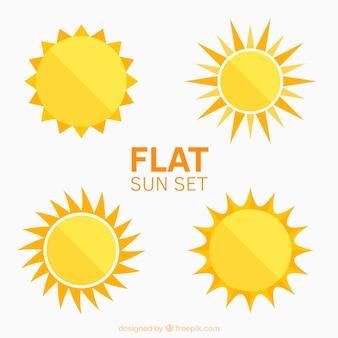 Flat suns set