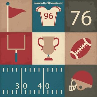 Flat Super Bowl elements