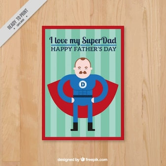 Flat super dad card