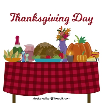 Flat table design for thanksgiving