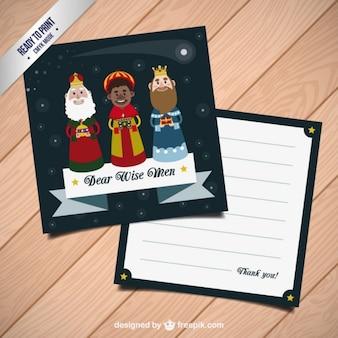 Flat three wise men list