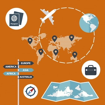 Flat travel infographic