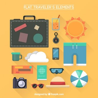 Flat trip objects collection