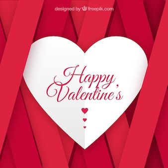 Flat valentines day background with pink stripes