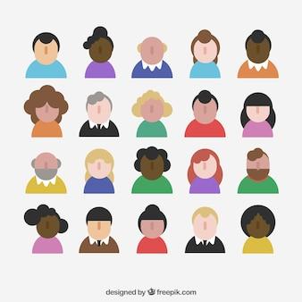Flat variety of avatars