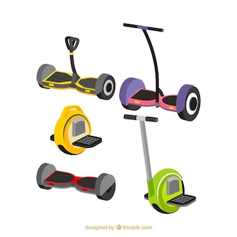 Flat variety of modern electric scooters