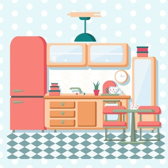 Flat vintage kitchen
