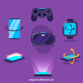 Flat virtual reality elements